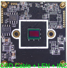 "AHD 4MP ( 4.0MP 2592 x 1520 ) 1/3"" OmniVision OV4689 + NVP2475 CCTV camera module PCB board with OSD cable + 5MP LEN + IRC(China)"