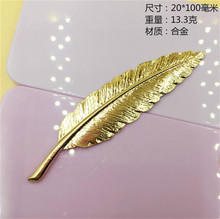 100*20MM Korean DIY hair metal fittings alloy pendant, banana large leaves button headwear manufacturers clothing accessories