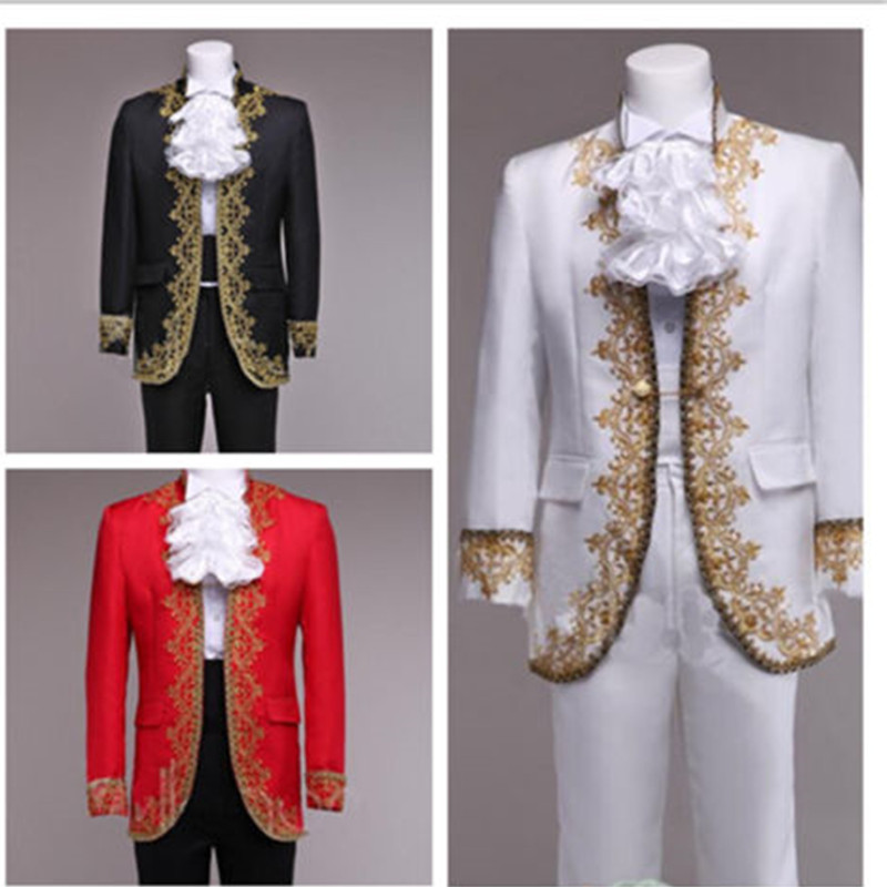 6-1 Vintage Wedding Men Suits Handmade Embroidery Groom Tuxedo Best Groomsmen Suit