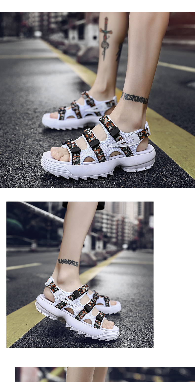 Sandals Men's Beach Shoes Summer Sports Korean Version Of The Trend Increase Big Sandals And Slippers Summer Boys Tide 20 Online shopping Bangladesh