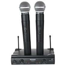 WEISRE PGX - 58 Professional UHF Dual Wireless Microphone Mic System for Karaoke Party KTV etc.with EU PLUG(China)