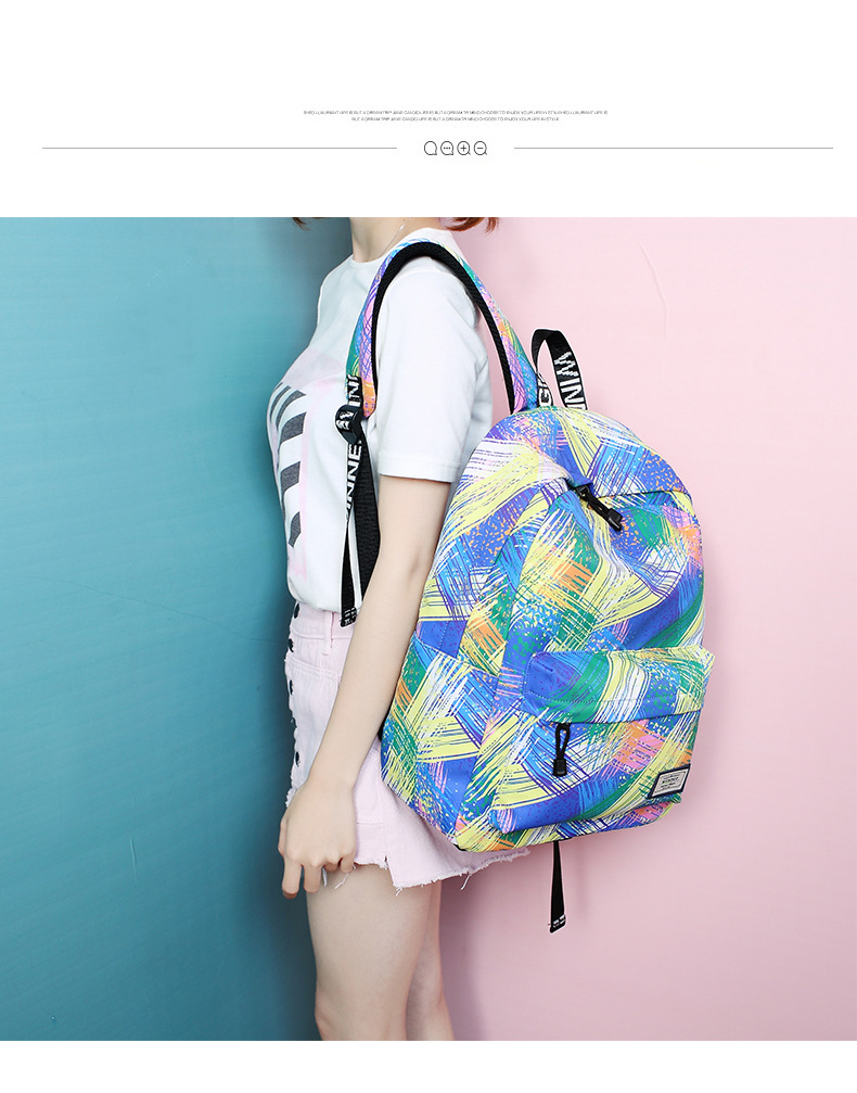c91f1124cd5 Fashion Women Waterproof Backpack School Bag Personality Printing Large  Capacity Girls Knapsack Back Packs Travelling Bags - us518