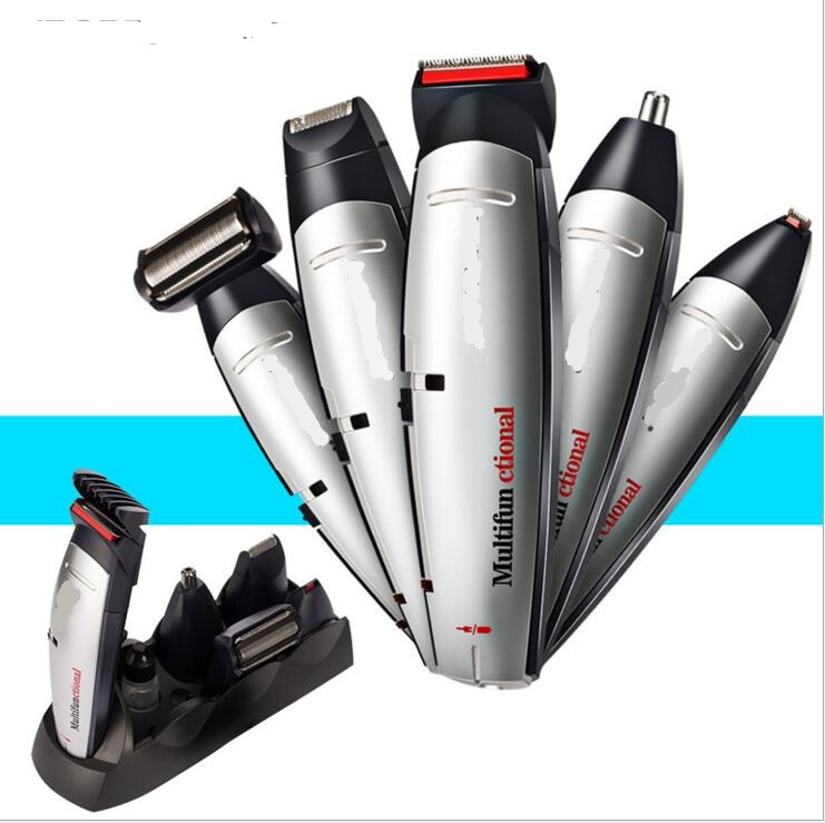 5 in 1 electric grooming kit beard trimmer nose hair lettering cutter beard shaver styling clipper all in one body hair remover<br>