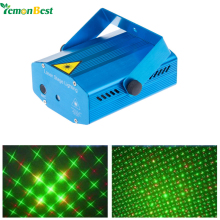 LemonBest Blue Mini Projector Red &Green DJ Disco Light Stage Xmas Party Laser Lighting Show