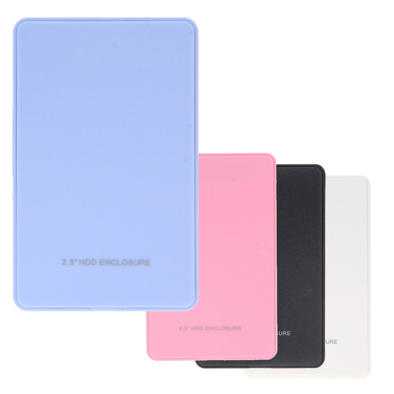 "2.5"" Inch USB 3.0 SATA Hard Drive HD Enclosure HD Box 5 Gbps HDD Hard Drive External Enclosure Case Black White Blue Pink(China (Mainland))"