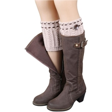 JABS Women Girls Knitted Leg Warmers Crochet Socks Boot Cover Cuffs