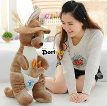 Dorimytrader Hot Selling 35'' / 90cm Cute Giant Stuffed Animal AU Kangaroo Toy Great Baby Gift Free Shipping DY60163(China)