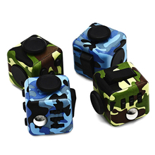 Camouflage Mini Fidget Cube Toy Vinyl Desk Finger Toys Squeeze Fun Stress Reliever High Quality Antistress Cubo Birthday Gift