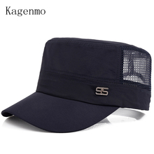 Kagenmo Male military hat mesh breathable comfortable cap sun hats leisure cool man army caps mesh truck cap(China)