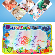 2017 59*36cm Children baby toy Water Drawing Painting Writing Mat Board & Magic Pen Doodle Toy Gift Learning Drawing Toys