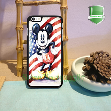 Mickey Mouse Retro Usa Flag Original Black Cell Phone Cases For Iphone 7 7plus 6 6 plus 6s 6splus 5 5s 5c 4 4s B*0182