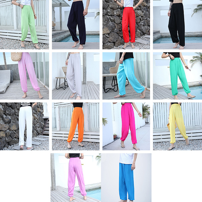 Baggy Pants Women Plus Size Women Pants 19 Summer Women Solid Color Casual Loose Harem Pants Trousers Pantalon Femme Pantalon 1