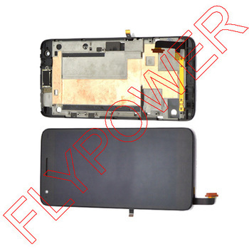 For ZTE Grand S V988 lcd touch screen with digitizer assembly + Bezel frame,Black by free shipping<br><br>Aliexpress