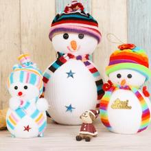 Hot Sale! 3 Sizes Lovely Christmas Toys Decoration Xmas Tree Decorations Snowman Doll Children's Gift Tiny Toy(China)