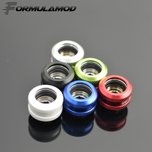 FormulaMod Choice Red Green Blue Black Silver OD14mm Hard tube fitting hand compression fitting G1/4' OD14mm hard pipe TFYKN-T14