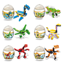 Random Delivery!! Assembly Deformation Dinosaur Eggs Plastic Novelty Educational T-REX Dinosaur Toys Gift for Children(China)