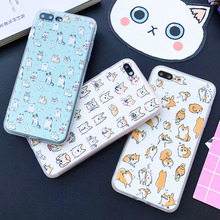 Buy Funny Cartoon Dog Pattern Case iphone 7 Case Fashion Cute Animal Cat Back Cover Phone Cases Apple iphone7 6 6S Plus 5 5S for $1.97 in AliExpress store