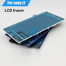 Original Replacement Front Phone Frame LCD Display Screen Frame Housing For Sony Xperia Z1 L39H C6903(China)