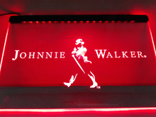 LE082- Johnnie Walker Whiskey Wine Bar   LED Neon Light Sign   home decor  crafts