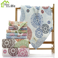 34*76cm Bamboo Fiber Flower Printing Hand Towel For Adults Women Men Bathr Towel Rectangle Face Towel Bathroon Supplies(China)