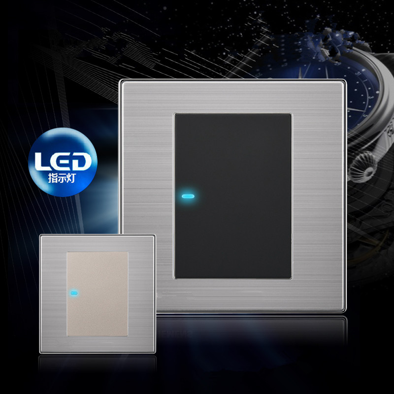 1 gang 2 way light switch and lamp pull switch,UK Standard wall switch AC110-250V,220V push button switch The night fluoresce<br><br>Aliexpress