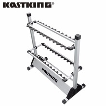 KastKing Brand 2017 Portable Aluminum Fishing Rod Racks with New Package 24 Rod Rack for All Types of Fishing Rods and Combo(China)