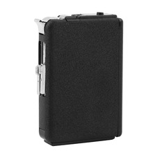 2 in 1 Portable Cigarette Auto Case Box Holder Windproof Flame Fire Gas Refillable Lighter Durable Metal Cigarette Gift Box(China)