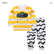 New Year Costume For Kid Set Baby Clothes China Spring Autumn Boy Girl Cartoon T Shirt+Pant 2PC Suit Coming Home Outfit Kit