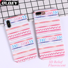 Buy OLOEY Geometric Graphic Pattern Case iphone 7 Case iphone8 8PLus X Phone Cases Colorful Abstract Triangle Back Cover for $2.03 in AliExpress store