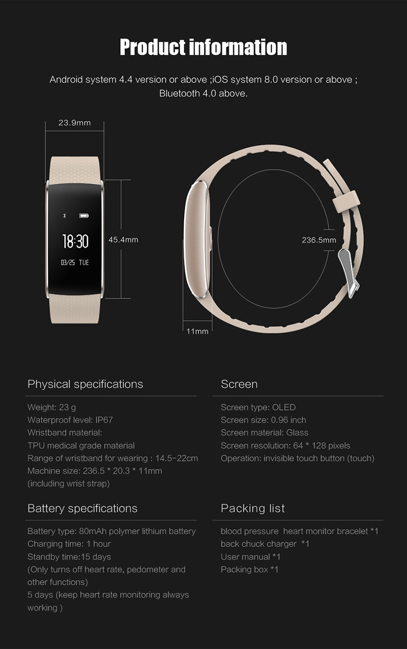 A86 Smartband Heart Rate Blood Pressure Watches Pulse Monitor Smart Band Fitness Bracelet Activity Tracker Wristband Pedometer 21