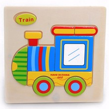 Hot Sale Transportation Wooden Jigsaw Puzzles Toys Train Ship Truck Balloon Rooter Helicopter Plane Wooden Montessori Toys Gift(China)