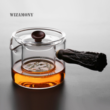 1PCS WIZAMONY Newest Japanese Customized Glass Multi Function Fair Mug Tea Strainer Tea Boil Pot Teaset Heat Resistant(China)