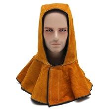 NEW Safurance 60cm Leather Hood Helmet Mask Protector Cap For Welder Electric Welding Work Workplace Safety(China)