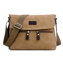 Men Quality Multifunction Men Canvas Bags Khaki Casual Travel Men Crossbody Shoulder Bag Men Messenger Bags 32*7*25 CM
