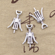 99Cents 5pcs Charms wine opener 27*17mm Antique Tibetan Silver Pendant Findings Accessories DIY Vintage Choker Necklace