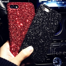 Kerzzil Luxury Bling Glitter Shining Flash Powder Cases For iPhone 7 6 6S Plus PC Hard Cover Back For iPhone X 6 6S 8 Plus Capa(China)