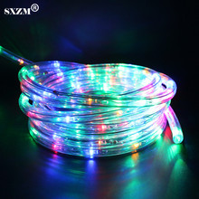 SXZM AC220V flexible led strip light waterproof Multicolor Rainbow tube with 8 modes for outdoor garden decoration(China)