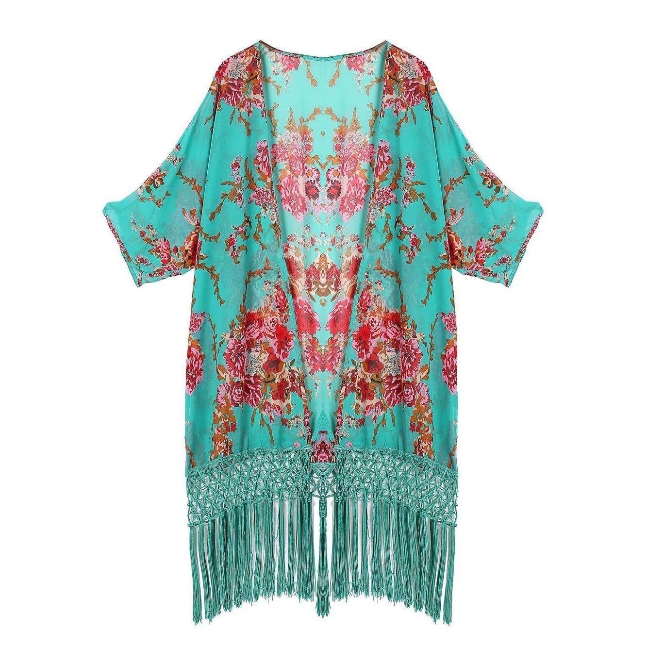 5pcs( Good Deal Womens Swimwear Beachwear Bikini Beach Wear Cover Up Kaftan Summer Shirt Dress<br>