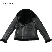 jackets for women black jacket womens leather jackets uk short leather jacket ladies leather coats with fur hood leather blazer(China)