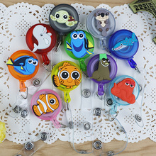 Mini Cartoon Animals Retractable Badge Reel Student Nurse Exihibiton ID Name Card Badge Holder Office Supplies(China)