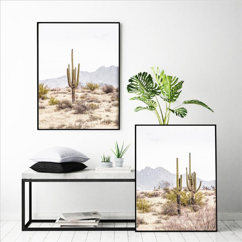 Cactus Print NEW POSTER Saguaro Cacti Arizona Desert