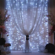 EU Plug G5 LED Icicle Light Curtain Lamp Light String Christmas Decorations for Home Wedding Decoration 9W 3X3m 300pcs LED Beads
