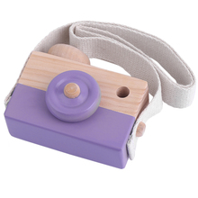 Baby Toys 3 Colors Cute Wooden Toy Camera Kids Girls Boys Creative Neck Camera Photo Props Decor Great Gift Toys for Children