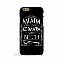 Avada Kedavra Bitch shirt for Harry Potter Design phone cover cases For Apple iphone X 4 4S 5 5S SE 5C 6 6S 7 8 Plus Hard Shell