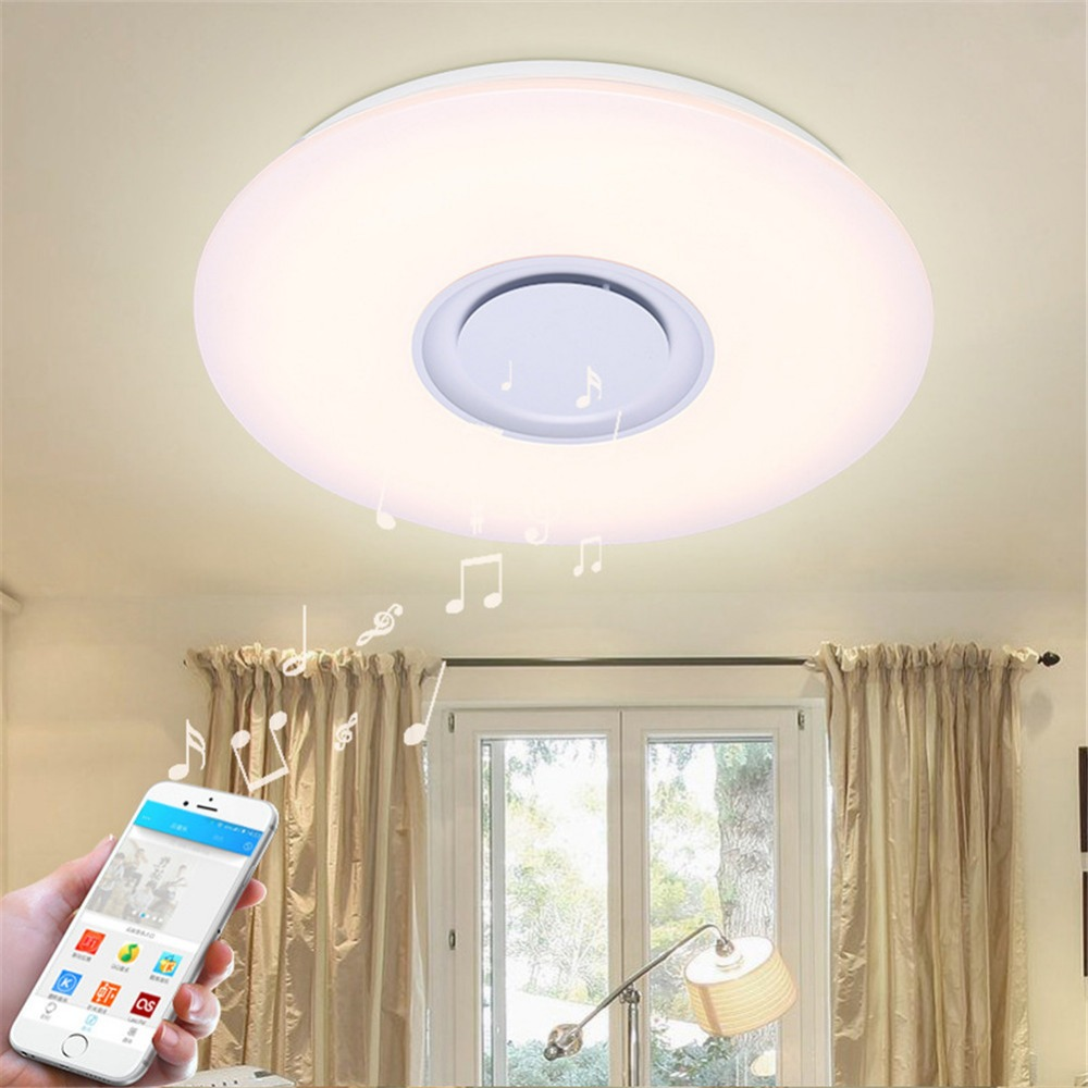 Rgb Dimmable Bluetooth Music Led Ceiling Light Lamp With Phone App Control  Primitive Arylic Boby Ceiling