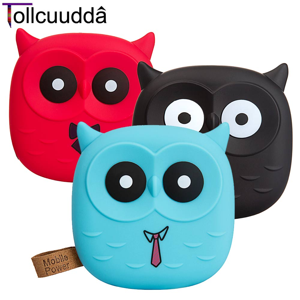 18650 Cute Cartoon Owl Power Bank Portable Charger...