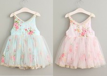 2017 Summer Girl Cotton Lace Dress Cute Baby Girl Birthday Dresses Elegant Cute Childrens Dress Kids Costume Princess Clothing(China)
