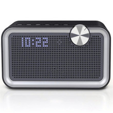 exquisite subwoofer 20w portable speaker with DSP hardware adjust EQ sound effects and LED display suppoort alarm clock  fm