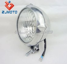 H4 Headlight 4-1/2 Polished Motorcycle Head Light Lamp For Harley Chopper Sportster Softail Custom High Low Beam Headlight