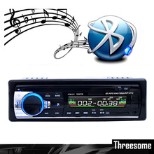 Auto Bluetooth 1 DIN 12V Car Radio Car Audio Stereo MP3 Auto Radio Player + FM USB SD MMC AUX Input Receiver Hands-free Call